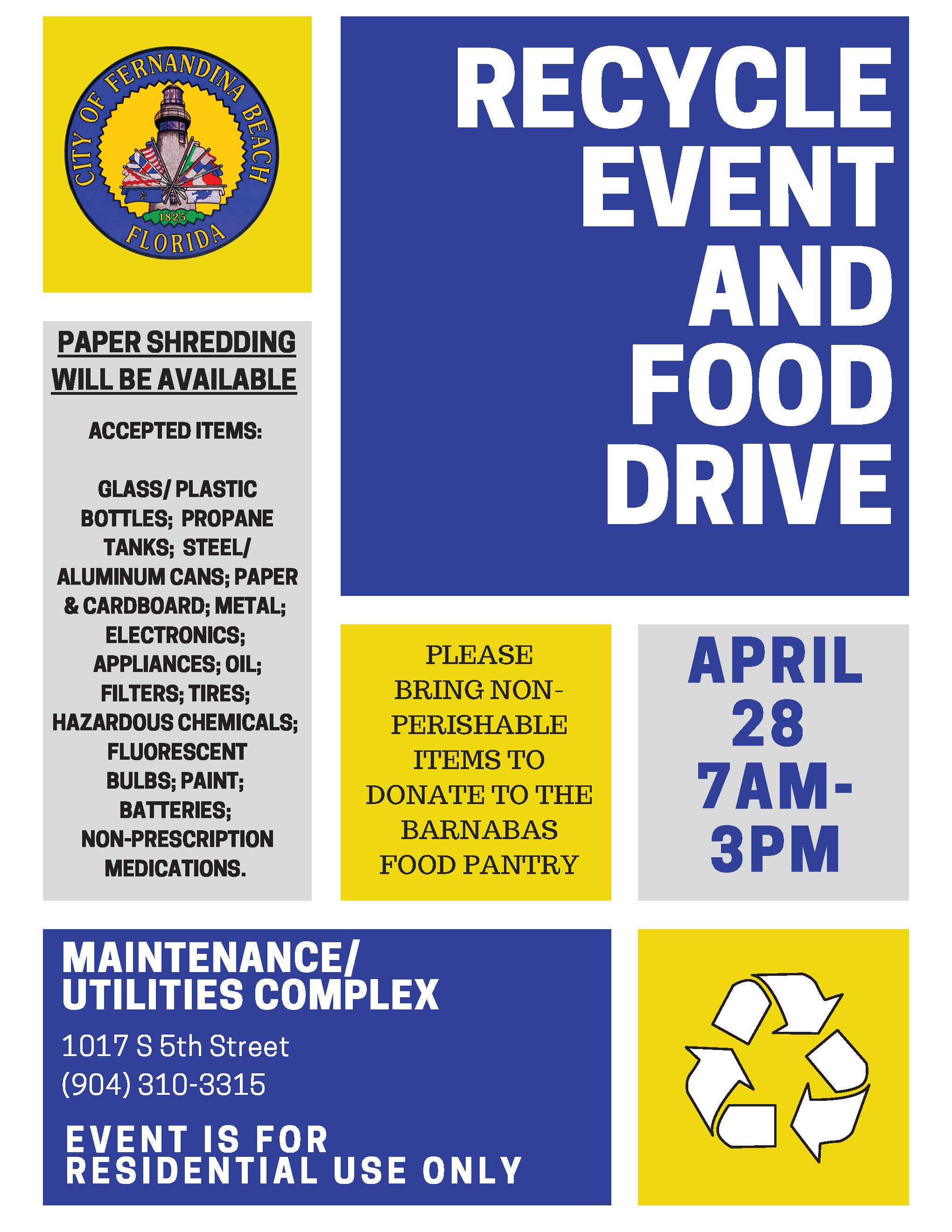 Recyle Event and Food Drive