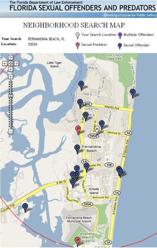 FDLE Mapping Sexual Offenders and Predators Residing Within the City Limits ...