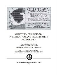 Old Town Guidelines Cover